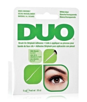 DUO Wimpernkleber weiß/clear Latexfrei Brushon 5gr