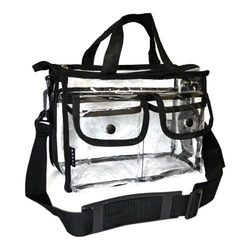 Settasche klein durchsichtig mit 2 Taschen